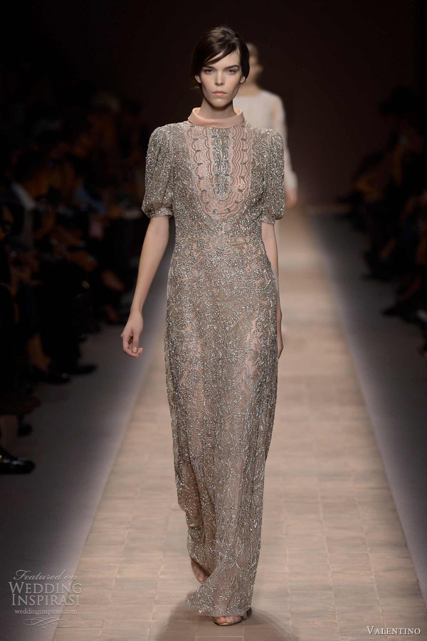 valentino spring 2013 ready to wear sleeve beaded dress