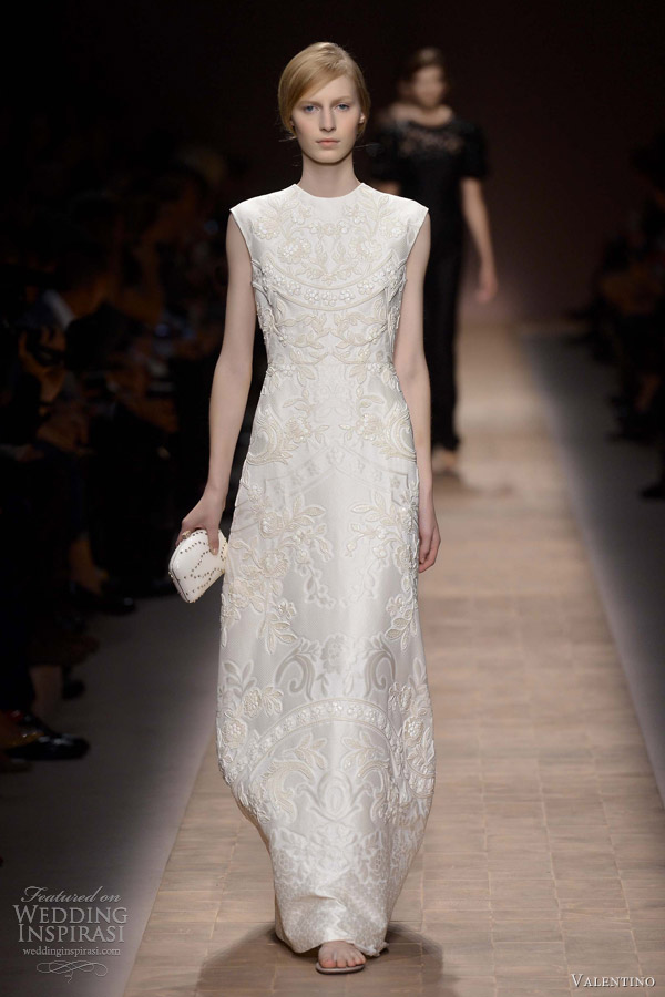 valentino spring summer 2013 ready to wear white dress