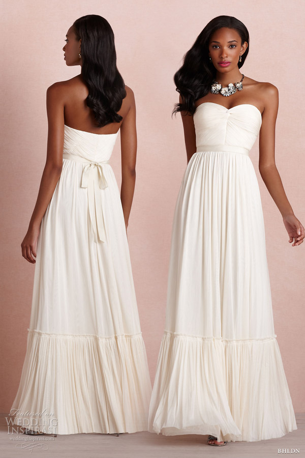 bhldn 2013 bridal de rigueur strapless wedding dress