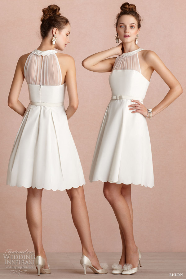 bhldn 2013 bridal horizon short halter dress