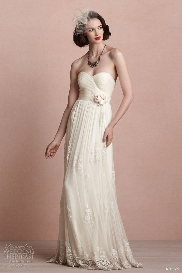 bhldn 2013 bridal luella strapless wedding dress