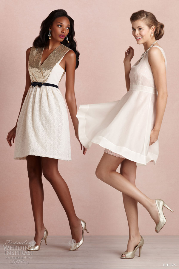 bhldn bridal 2013 short dresses sequins