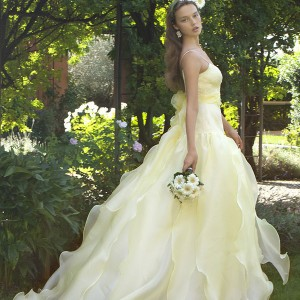 eme di eme wedding dresses 2013 pale yellow gown