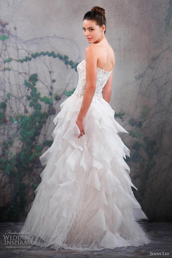 jenny lee bridal fall 2013 strapless wedding dress 1311