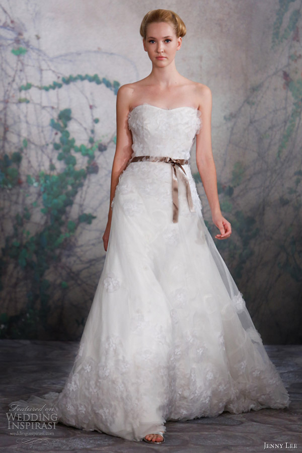 jenny lee wedding dresses fall 2013 strapless gown 1317