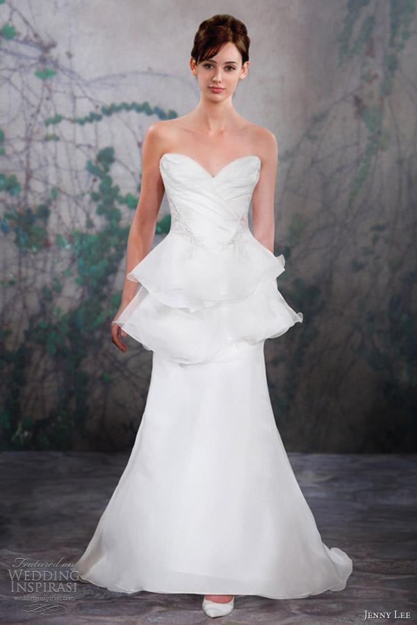 jenny lee wedding dresses fall 2013 strapless sweetheart gown peplum 1323