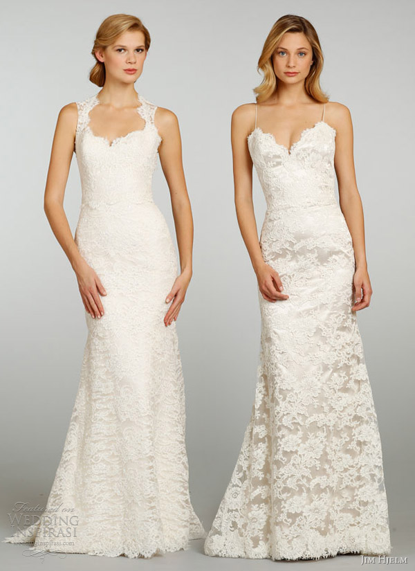 jim hjelm bridal spring 2013 lace wedding dresses