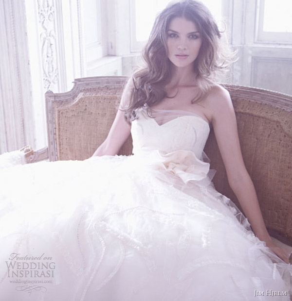 jim hjelm bridal spring 2013 strapless wedding dress 8320