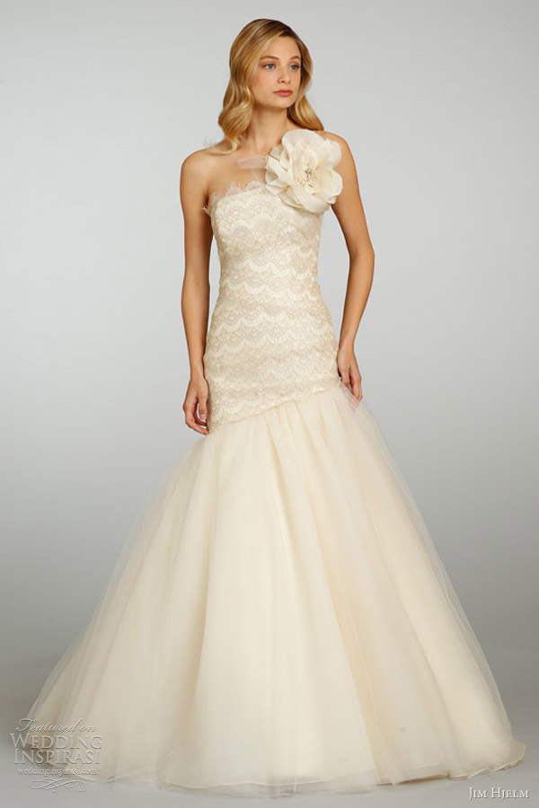 jim hjelm spring summer 2013 bridal ball gown lace 8317