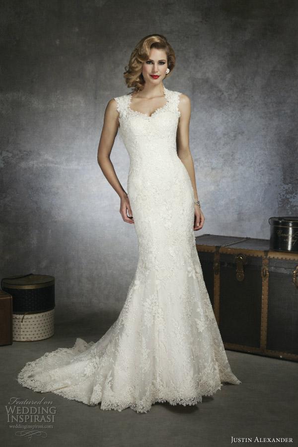 Justin Alexander Bridal Spring 2013 — Sponsor Highlight ... Lace Mermaid Wedding Dress 2013
