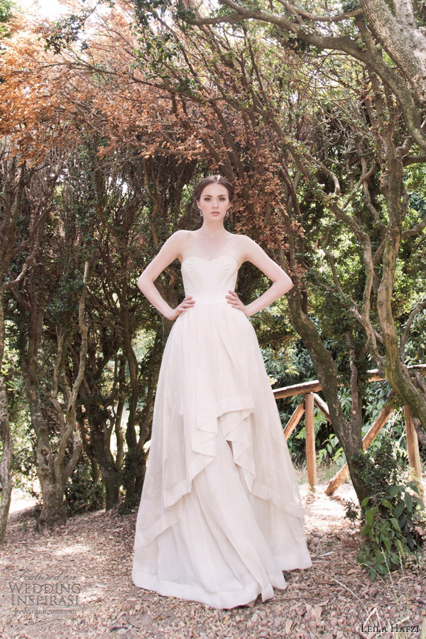 leila hafzi 2013 bridal maria wedding dress nina skirt