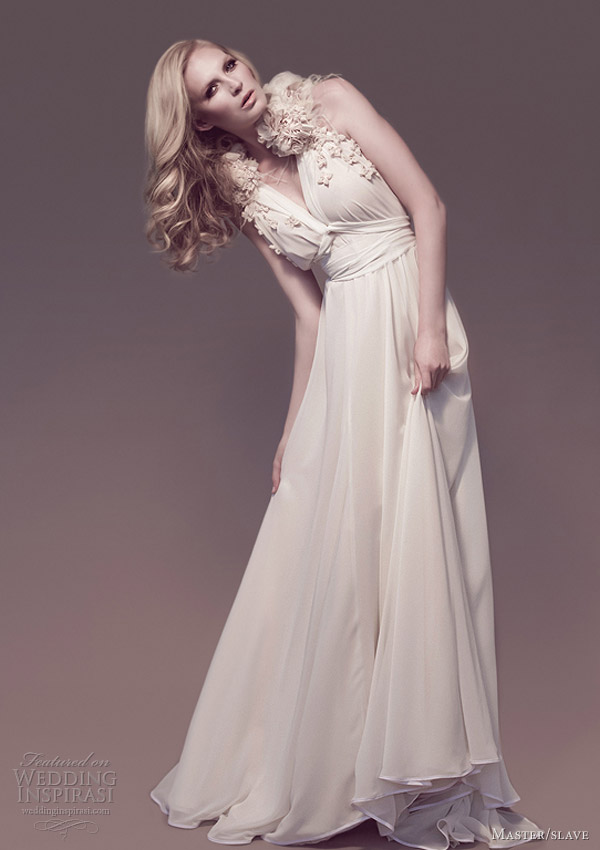 master slave 2013 wedding dress kate draped gown beaded web lace collar