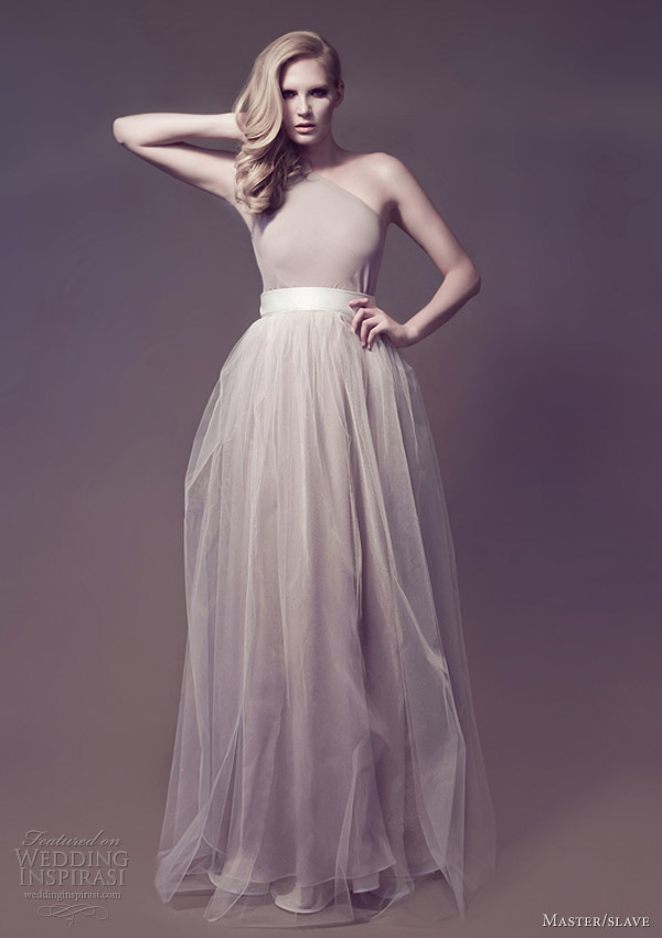 master slave bridal 2013 flora galaxies one shoulder gown tulle skirt