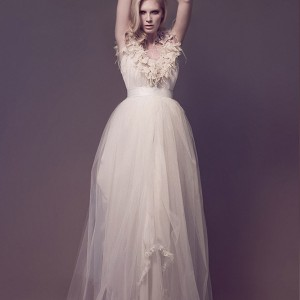 master slave wedding dresses 2013 flora galaxies triangle chiffon gown