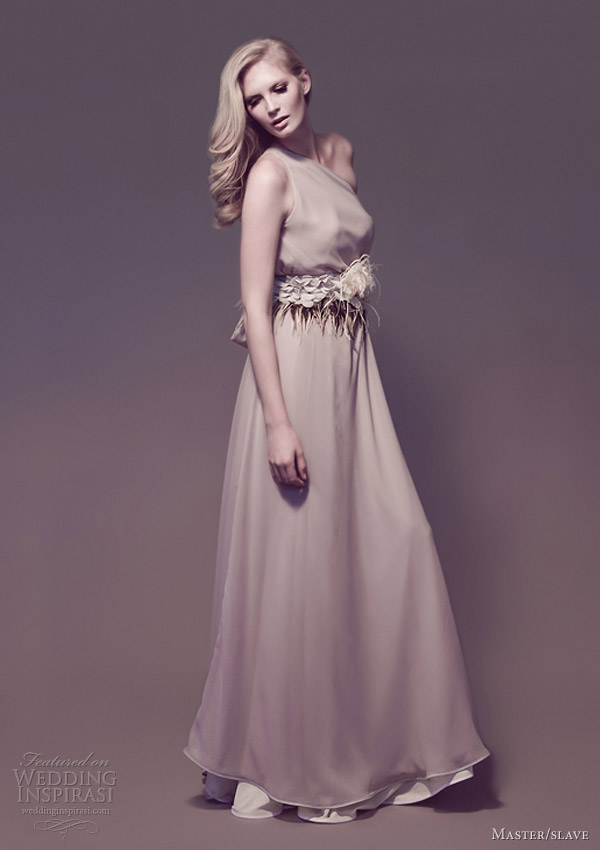 master slave wedding dresses 2013 one shoulder gown