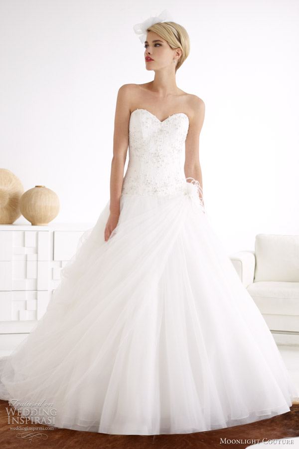 04bff165078 moonlight bridal couture spring 2013 strapless tulle ball gown h1212