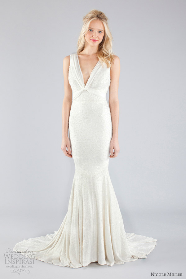 nicole miller wedding dresses fall 2013 bridal sleeveless mermaid gown train