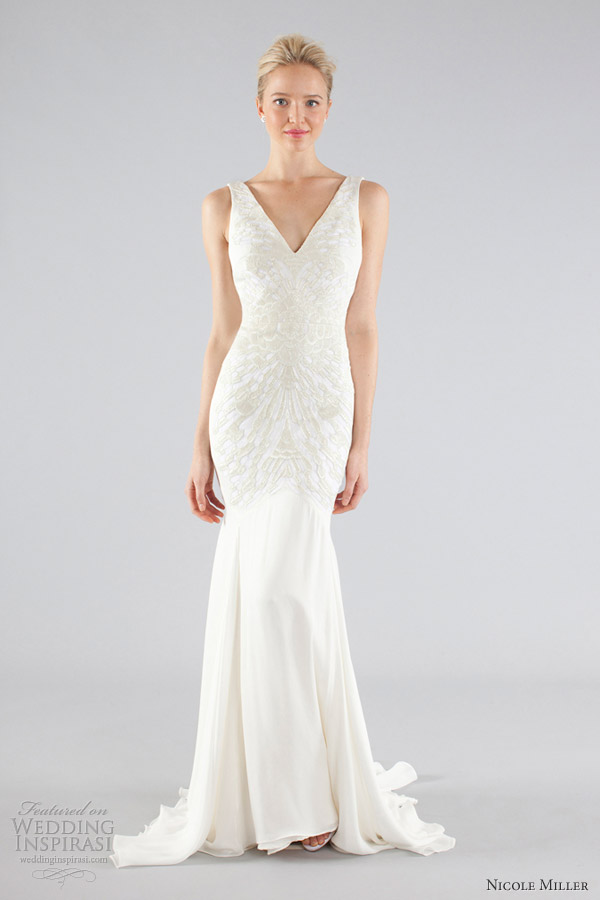 nicole miller wedding dresses fall 2013 bridal sleeveless mermaid gown