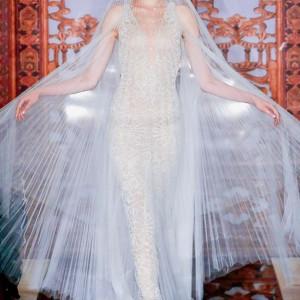 reem acra bridal fall 2013 wedding dress beaded sheath