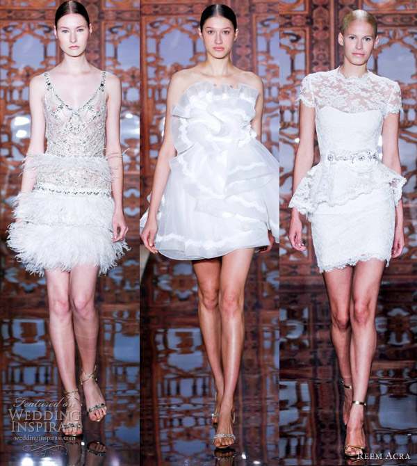 reem acra short wedding dresses fall 2013