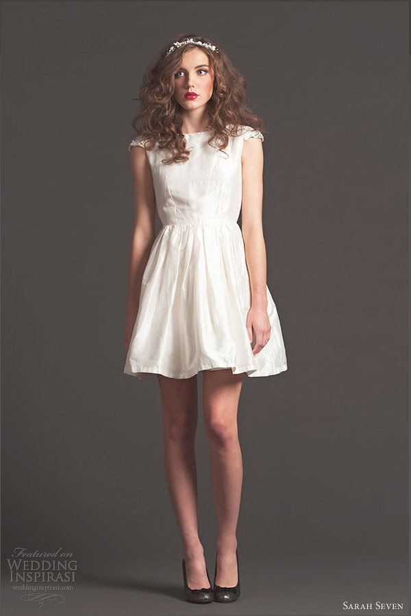 sarah seven bridal fall 2013 le petit short wedding dress