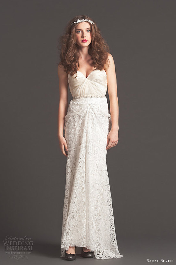 sarah seven fall 2013 bridal smitten lace wedding dress
