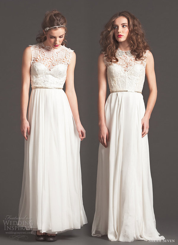 sarah seven wedding dresses fall 2013 even so mademoiselle bridal gowns