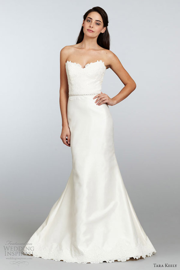 tara keely spring 2013 mikado organza trumpet wedding dress