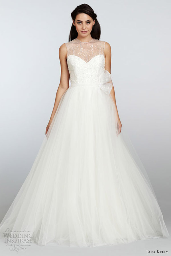 tara keely wedding dresses spring 2013 sleeveless organza trumpet gown a line tulle beaded sweetheart neckline