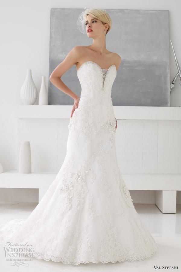 val stefani wedding dresses spring 2013 strapless fit flare d8036