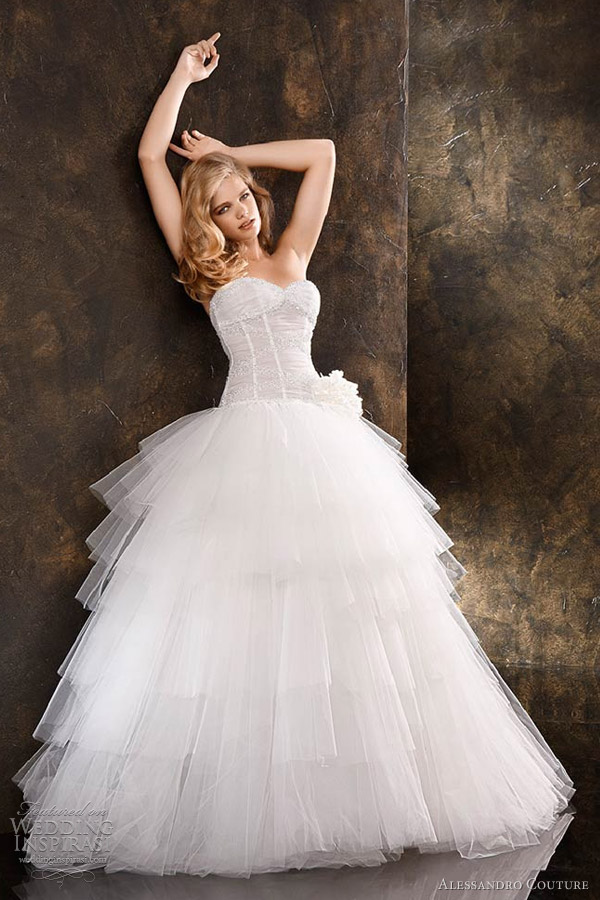 Butterfly Wedding Gown 17 Epic alessandro couture butterfly strapless