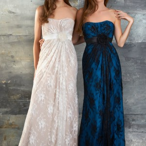 bari jay spring 2013 bridesmaid dress 650 strapless lace charmeuse black ivory