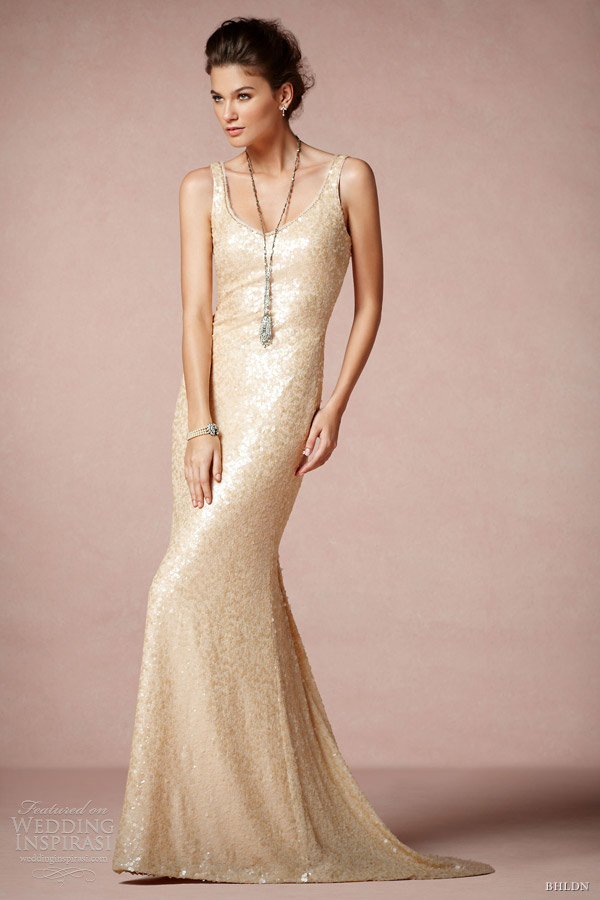 bhldn 2013 bridal cyprium sleeveless gown tank straps badgley mischka