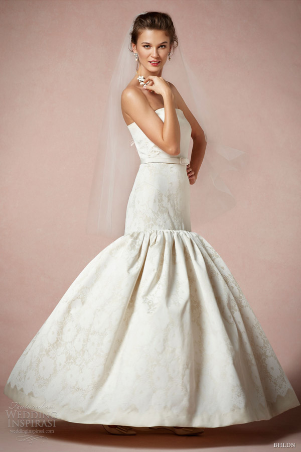 bhldn bridal 2013 contessa strapless gown milly