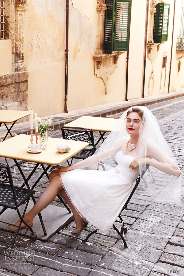 bhldn spring 2013 dolce vita short wedding dress sleeveless illusion sleeves quillaree