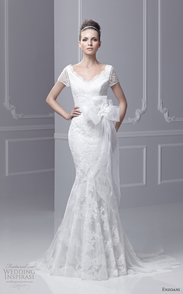 Enzoani timeless wedding dresses 2013 sponsor for Blue wedding dress with sleeves