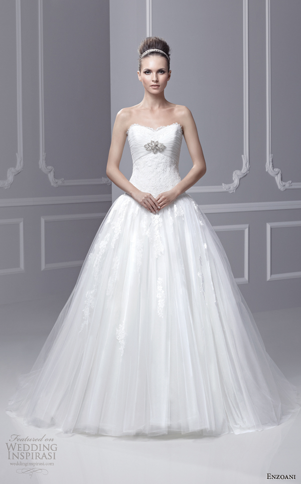 blue by enzoani wedding dresses 2013 bridal fairmont strapless wedding ...