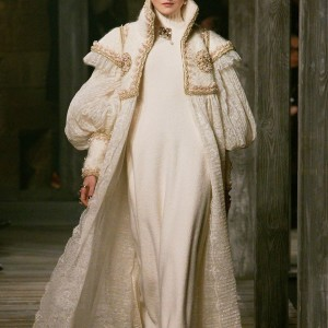 chanel pre fall 2013 white full length coat