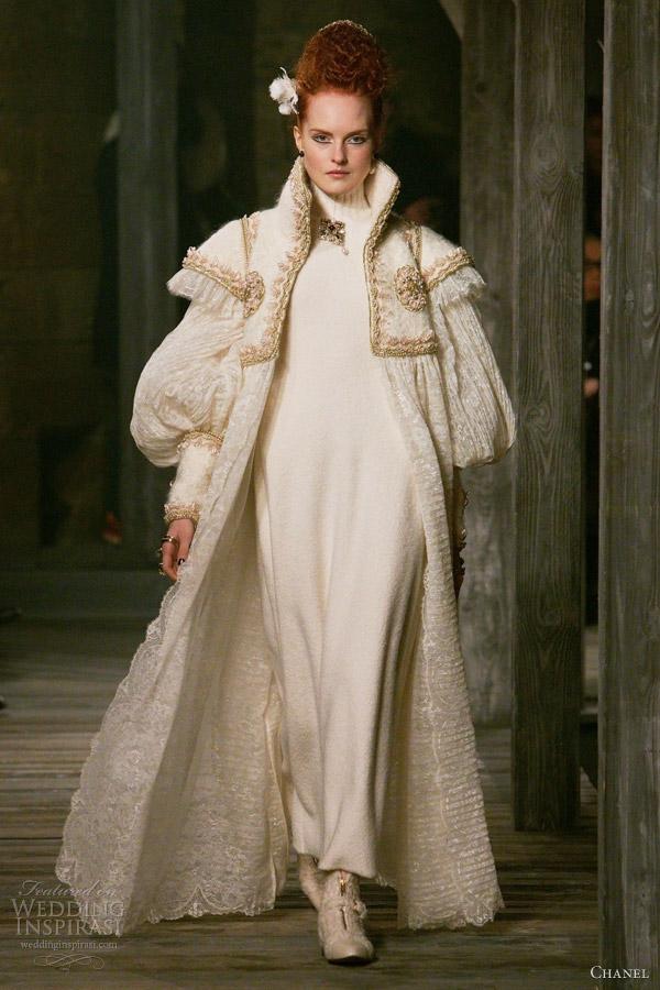 chanel pre fall 2013 white full length coat