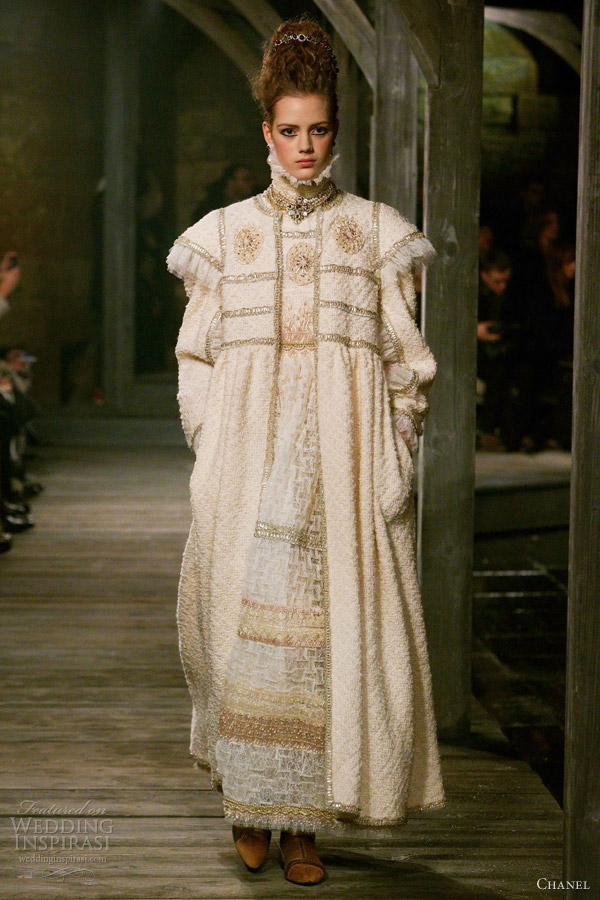 chanel pre fall 2013 wooly white dresses