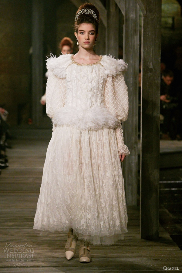 chanel pre fall winter 2013 2014 white dress
