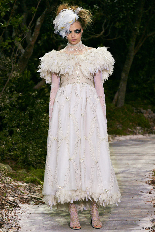 chanel spring summer 2013 couture white dress