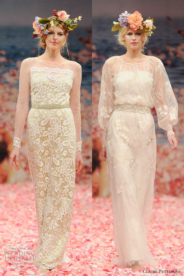 claire pettibone bridal spring 2013 wedding dresses with long sleeves helena peace