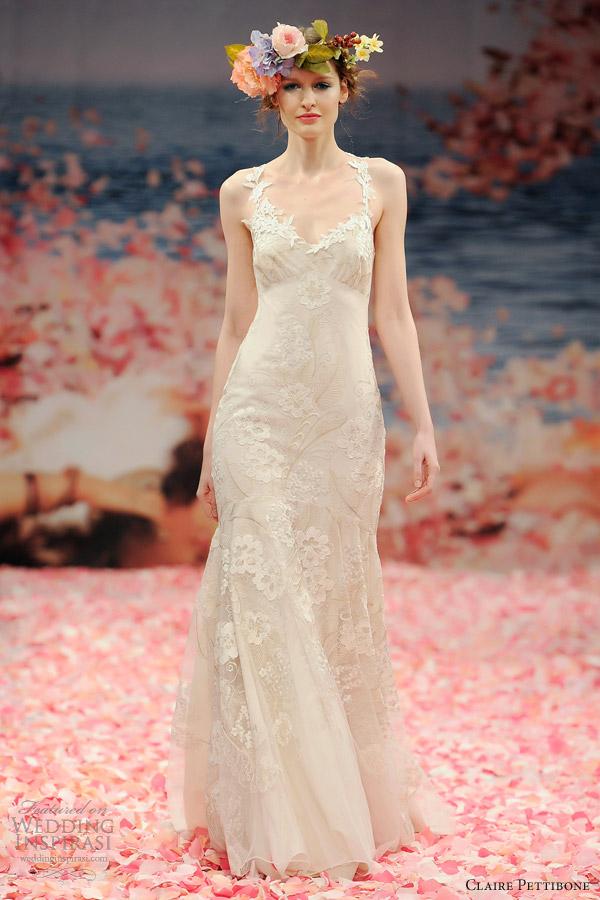 claire pettibone wedding dresses spring 2013 bridal devotion gown floral straps