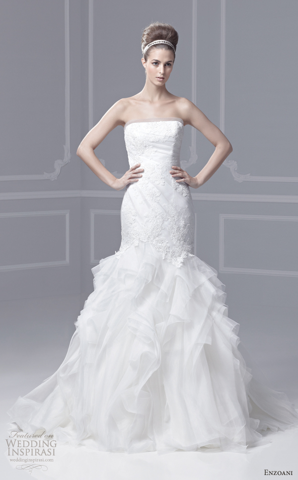 Blue Wedding Dresses Enzoani : Enzoani blue by collection frisco strapless mermaid