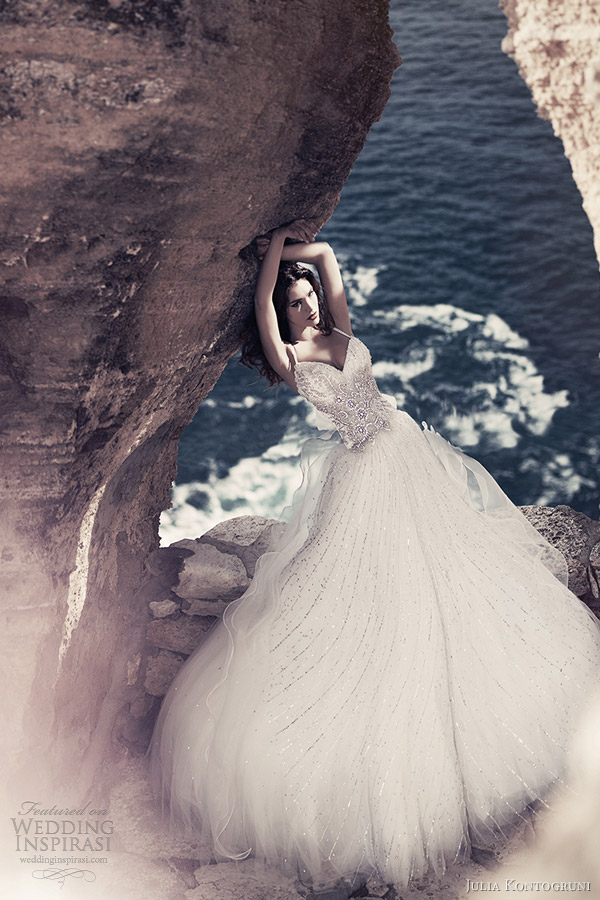julia kontogruni bridal 2013 crystal wedding dress with straps