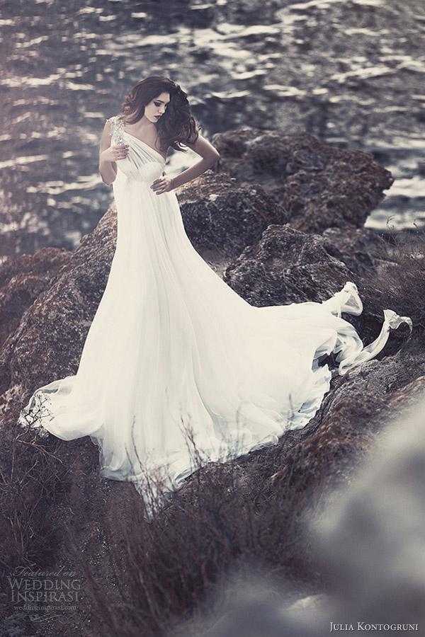 julia kontogruni bridal 2013 one shoulder wedding dresses