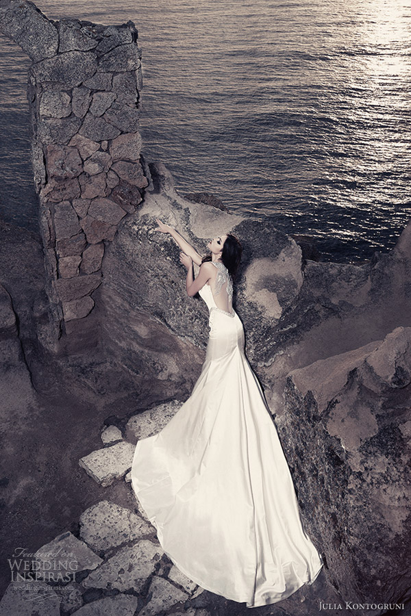 julia kontogruni wedding dresses 2013 bridal gown portrait back illusion