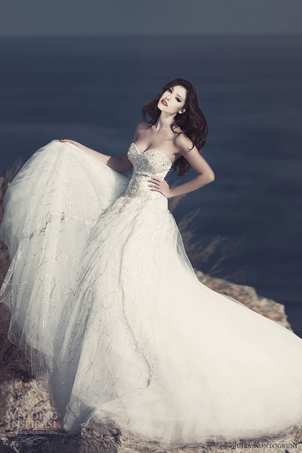 julia kontogruni wedding dresses 2013 strapless ball gown