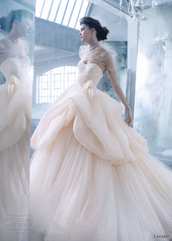Lazaro spring 2013 wedding dresses wedding inspirasi for Silk organza wedding dress